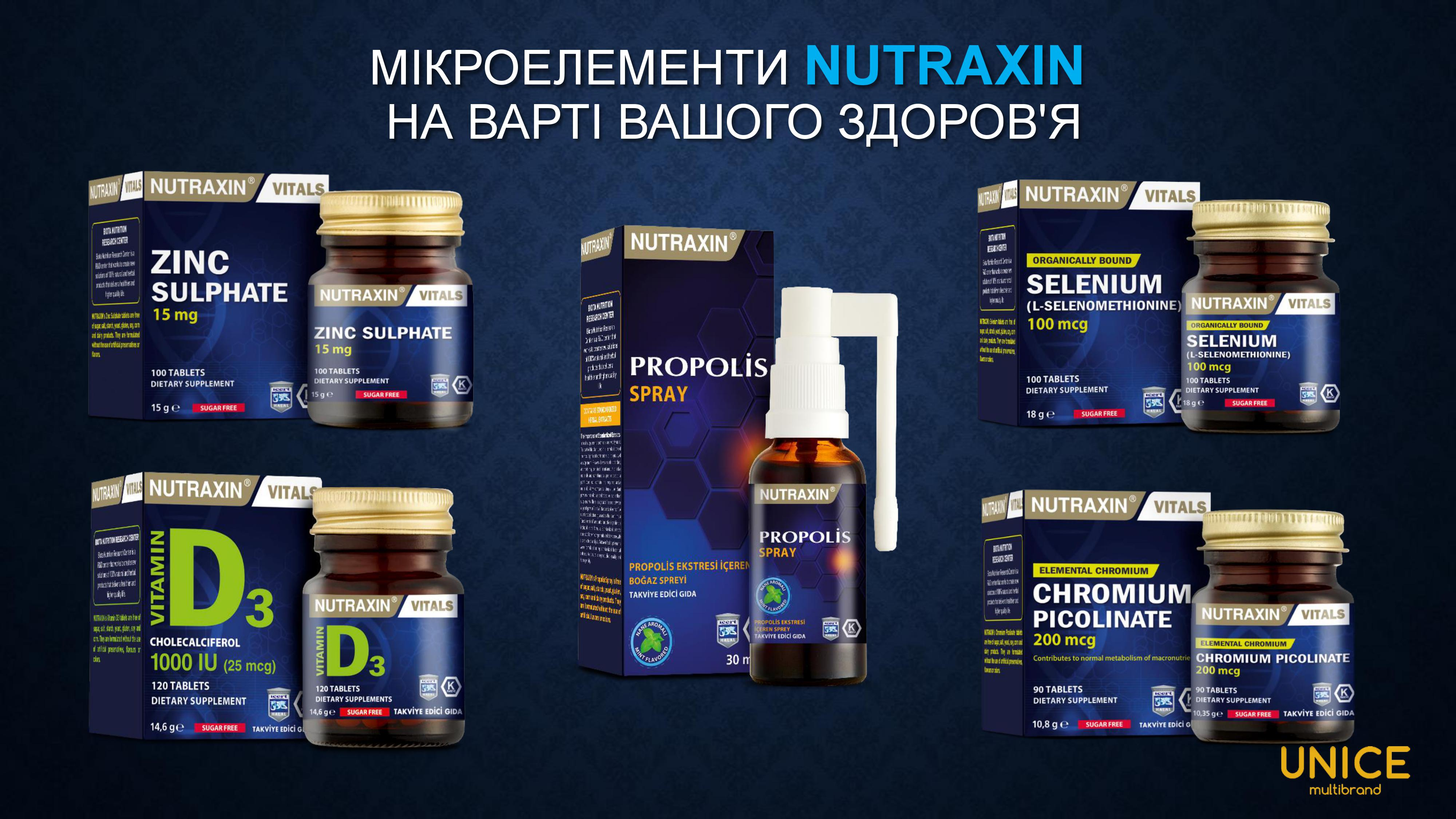 микроэлементы nutraxin
